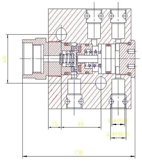 液压支架单向锁原理图